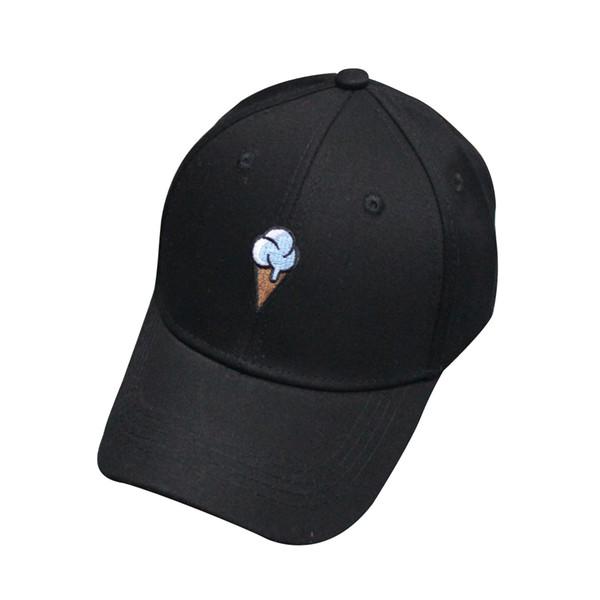 2016 Moda Kap Kadın Erkek Yaz Bahar Pamuk Kapaklar Basit sevimli kemik beyzbol Şapkası Siyah Şapka Snapback Kadınlar Kap casquette ...