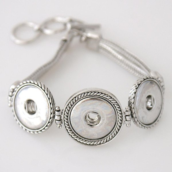 Partnerbeads Metal Snap Bracelet high quality Snap base jewelry Fit 20mm Ginger Snap button and Noosa Chunks KB3335