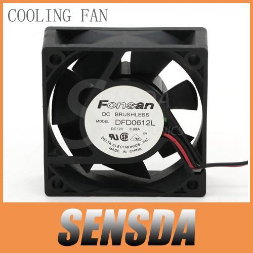 Frete Grátis Para Delta Electronics DFD0612L 6 cm 60mm 6020 DC 12 V 0.09A Servidor axial ventiladores de refrigeração industrial