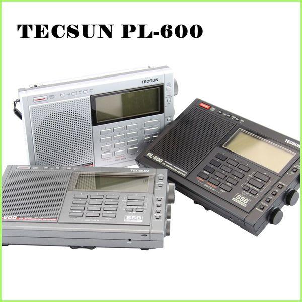 Wholesale-TECSUN PL-600 Digital Tuning Full-Band FM/MW/SW-SBB/AIR/PLL SYNTHESIZED Stereo Radio Receiver (4xAA) PL600rqdio