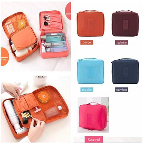 Travel Make Up Cosmetic Storage Zipper Bag Case Women's Lady Wash Makeup Bag Toiletries Kit Jewelry Organizer Travel multi pouch Handbag