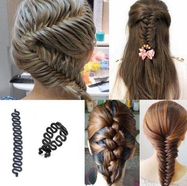 2018 Women Lady French Hair Braiding Tool Braider Roller Hook With Magic Hair Twist Styling Bun Maker Hair Band Accessories