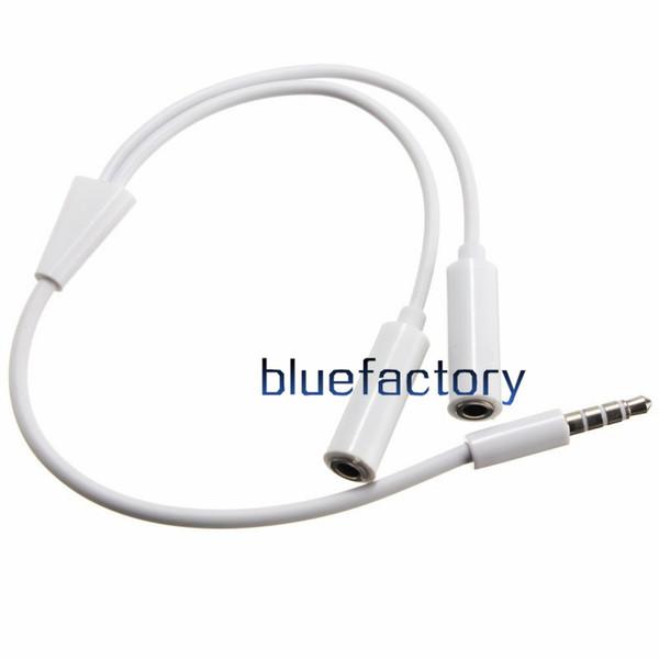 Universale da 3,5 mm 1 maschio a 2 femmina doppia cuffia audio plug sdoppiatore cavo adattatore auricolare cuffia jack per iphone 7 Samsung HTC