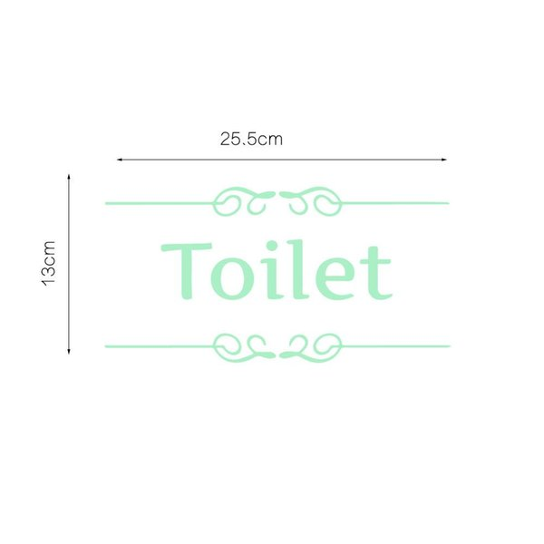 Billig 255x13cm Toilette Englisch Textmuster Leuchtende Aufkleber Glhen Wohnzimmer Schlafzimmer TV Sofa Hintergrund Dekorative