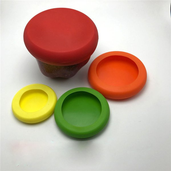 Nahrungsmittelabdeckungen Obst und Gemüse konservieren Deckel Hochwertiges rundes flexibles Silikon Neues Design Wiederverwendbare Umweltschutzabdeckung
