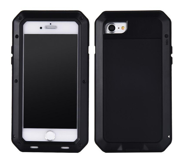 Luxury Metal Waterproof Cases For iPhone 7 6 6S Plus 5/se Shockproof Heavy Duty Armor Cover Gorilla Aluminum Skin