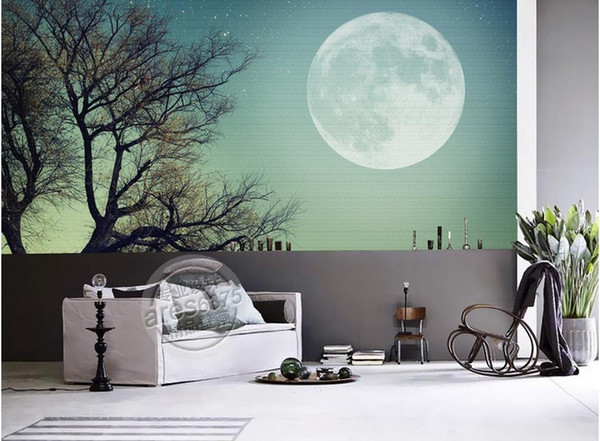 Modern Wallpaper For The Bedroom Customized 3d Wallpapers For Living Room  Big Moon Moon 3d Wallpaper Walls Wallpapers Hd Widescreen High Quality ...