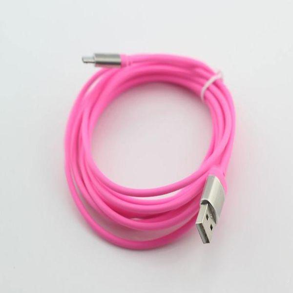 Micro USB Cable 3M 10 Pies Sincronización de datos Carga USB Conector metálico ininterrumpido para teléfono inteligente, teléfono móvil, teléfono Android Envío gratuito
