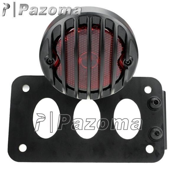 Soporte de la placa de matrícula del soporte de la placa de registro de la luz trasera del soporte del lado negro de la motocicleta para Honda