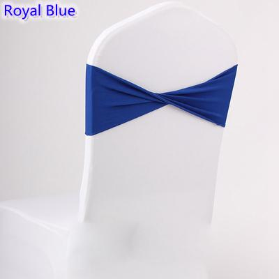 Royal blue colour spandex sashes lycra sash for chair cover spandex bands bow tie For Wedding Decoration banquet design for sale