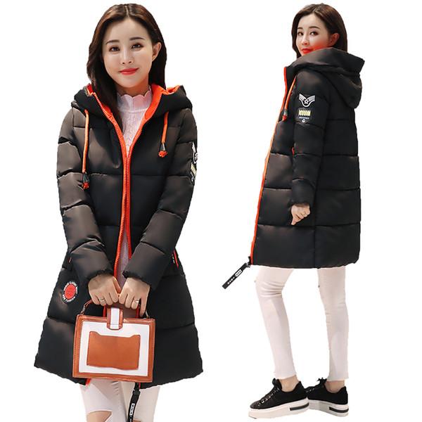 New Fashion Snow Coat Women Parka 2017 Winter Coat Women Jacket Long Thick Slim Ladies Coats Outerwear Parka Jacket Female