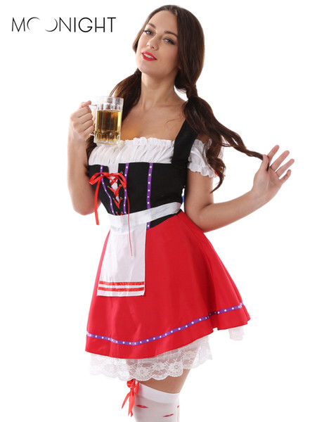 Moonight Most Popular Women 'S Oktoberfest Costume Fancy Dress Beer Costume Plus Size Halloween Costume M Xl 2xl 3xl