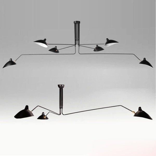 3 6 Köpfe Serge Mouille Pole Pendent Lampe Säbel Rasseln Schwingen Duckbill  Deckenleuchte Metall Esszimmer Deckenleuchte