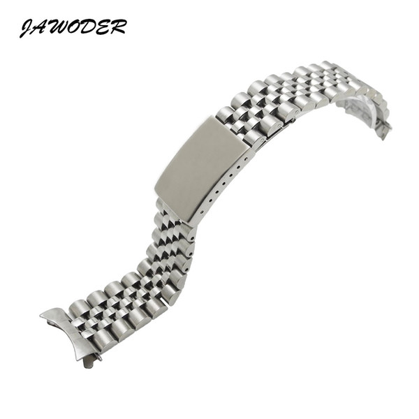 top popular JAWODER Watchband Men Women13 17 20mm Pure Solid Stainless Steel Polishing+Brushed Watch Band Strap Deployment Buckle Bracelets for Rolex 2020