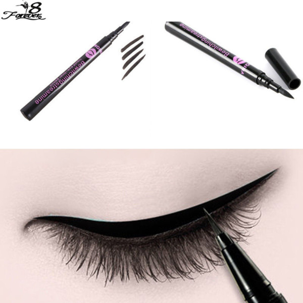 Wholesale-1 pcs Makeup Beauty Black Waterproof Liquid Eye Liner Pens Pencil Cosmetic Waterproof Make Up Gift for Fashion Women