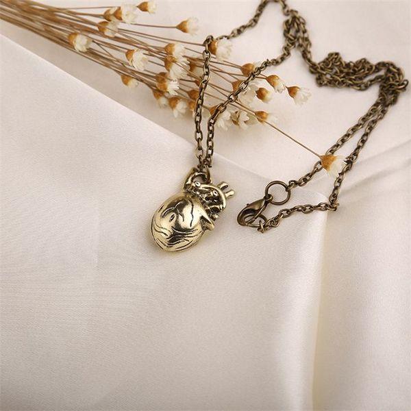 Wholesale Anatomical Heart Necklace Vintage Anatomy Heart Antique ...