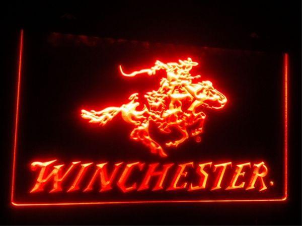 top popular b107 Winchester Firearms Gun beer bar pub club 3d signs led neon light sign home decor crafts 2021