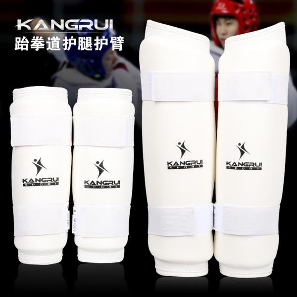Venta al por mayor- 2016 nuevo arrivial kangrui Adulto masculino femenino niños PU cuero WTF Aprobar Taekwondo Karate brazos y protector de pierna protector
