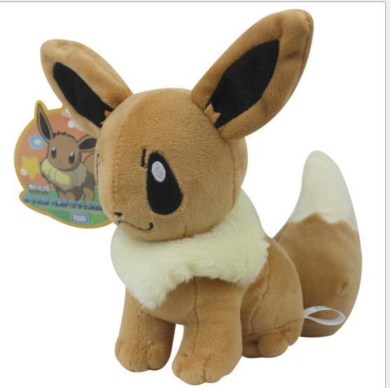 Poke Plush Size 20cm Plush Toy Eevee Soft Stuffed Animal Rare Cool Collectible Doll Xmas Gift for Kids Boys Free Shipping Hot Sale