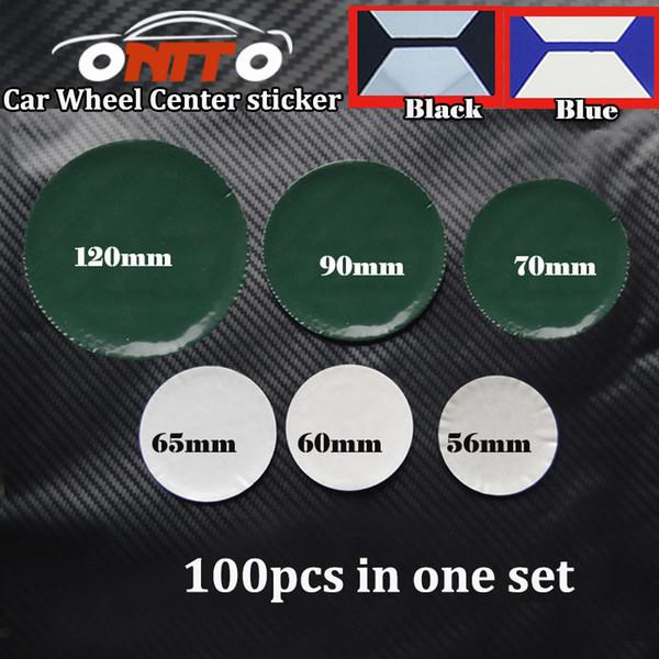 100pcs Wholesale Black Blue 56mm 60mm 65mm 70mm 90mm 120m for car Wheel Center Caps Sticker Decal Logo Badge Emblem car-stickers