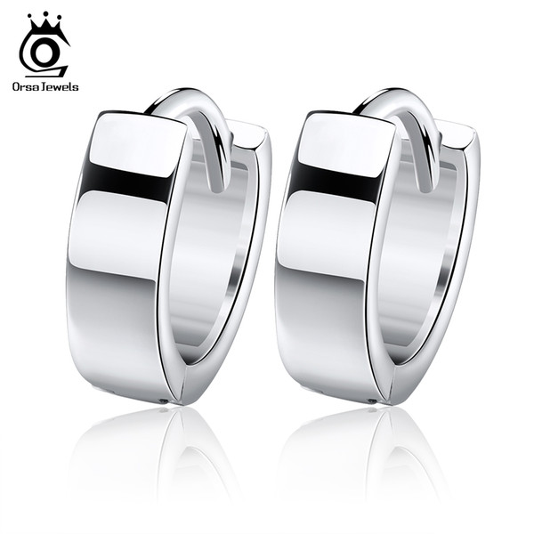 Orsa Jewelry Small Top quality Hoop Earring Fashion with 3 Layer Platinum Plated,Hot Sale Earring OE03