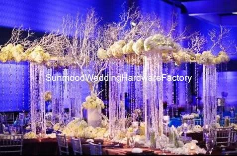 Artificial flower arrangement stand wedding table centerpieces,event planters for flower arrangement