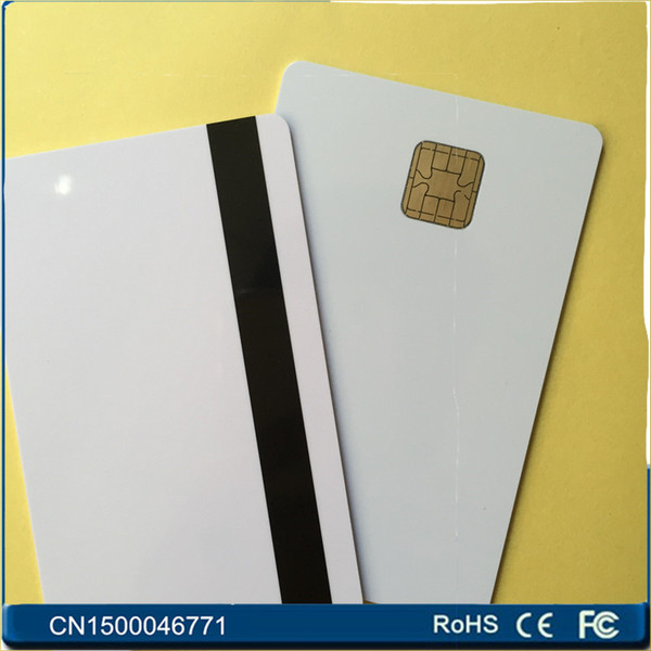 Al por mayor- J2A040 Chip JAVA Smart Card w / HiCo 2 pista Mag Stripe JCOP21 36K 50PCS / LOT