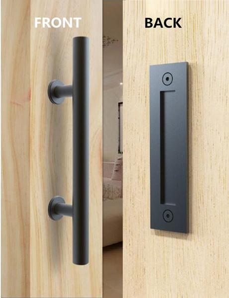 Stainless Steel Black Barn Door Handle and Pull Wooden sliding door handle Flush