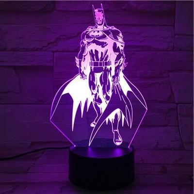O novo controle de toque remoto inteligente Início Mobiliário 3D colorido Nightlight Batman dos desenhos animados visual colorido lâmpada LED