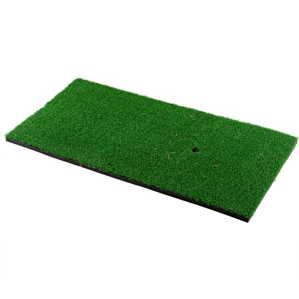 top popular Wholesale- Backyard Golf Mat 60x30cm Training Hitting Pad Practice Rubber Tee Holder Grass Indoor 2019