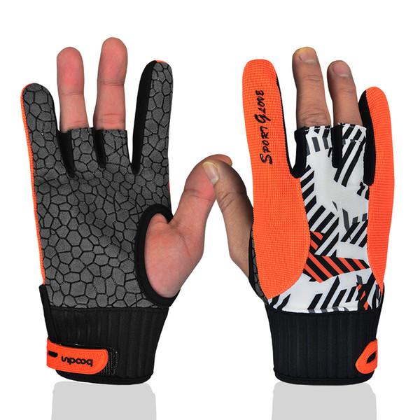 Professional antid/érapante de bowling Bloves confortable de bowling pour accessoires Semi-finger Instruments Sports Gants Moufles pour bowling