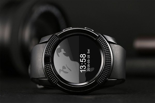Vendite calde V8 Guarda il telefono cellulare Bluetooth 3.0 IPS HD Full Circle Display Smartwatch OGS SIM TF Card VS GT08 A1 5 pz Spedizione gratuita