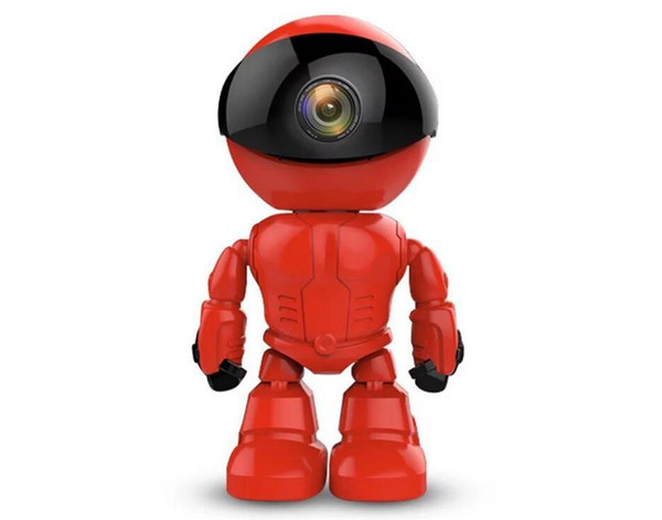 Maxde 2017 New Wireless Red Robot WIFI Camera IP P2P CCTV Cam Baby Monitor Surveillance HD H.264 Lens IR for Android iOS