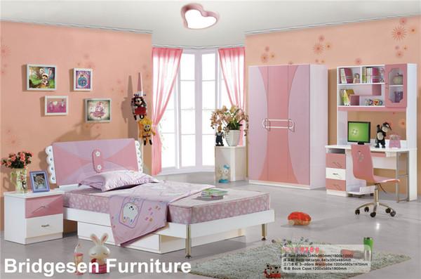 2019 MDF Teenage Child Children Kids Girl Bedroom Furniture Set With 3 Door  Wardrobe Nightstand Bookcase From Bridgesen, $437.19 | DHgate.Com