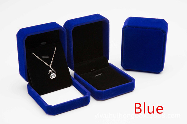 hot selling Artificial Flocking velvet necklace gift box jewelry box spot wholesale can be customized LOGO packing box factory
