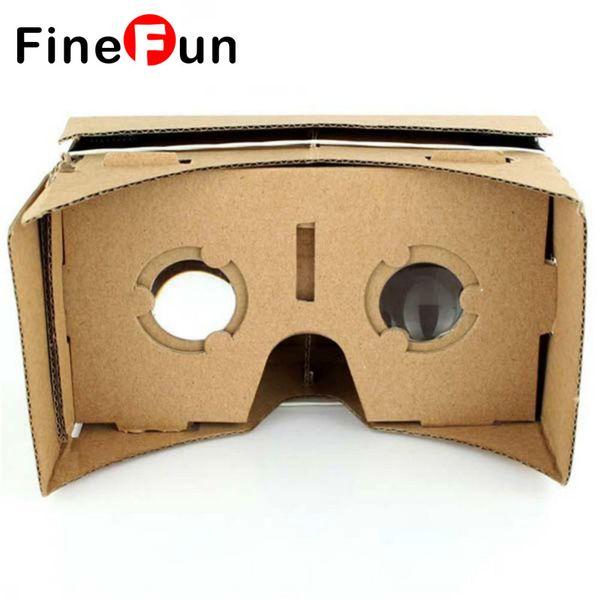 Toptan Satış - Toptan - FineFun Sanal Gerçeklik gözlükleri Karton Karton Karton Video 3 D Reald Lunette Casque 3D VR Gözlükleri IOS Adnriod için