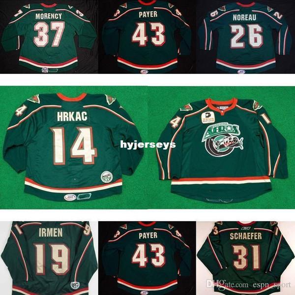 Custom 2017 AHL Womens Kids Houston Eros 37 Pascal Morency 14 Tony Hrkac 19 Danny Irmen 100% bordado Custom Hockey sobre hielo Jerseys Goalit Cu