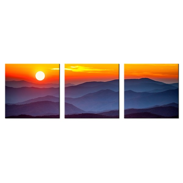 Beautiful Sunset Scenery Canvas Wall Art Modern Giclee Print Natural Landscape for Home and Office Decoration Wholesale 3 Panels