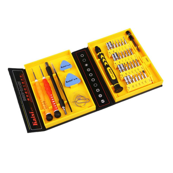 Wholesale- Kaisi 38 in 1 Precision Screwdrivers Kit Opening Repair Phone Tools Set for iPhone 4 / 4s / 5 iPad Samsung