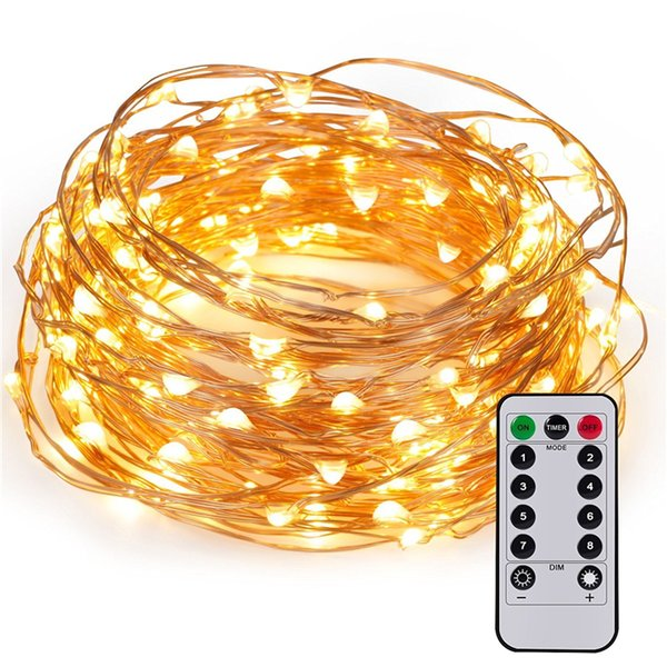 100leds fairy string lights with remote control long ultra thin 100leds fairy string lights with remote control long ultra thin string copper wire seasonal decor rope mozeypictures Images