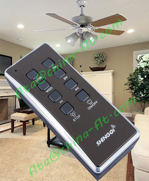 CE RF Remote Control Switch Supplier fan light controller. 3 speed, 3 timer, on off key, easy match