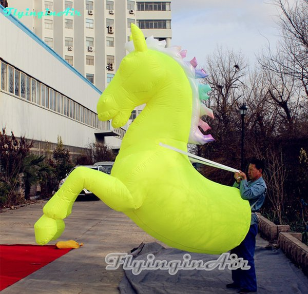 Various Custom Wearable Inflatable Horse Costume Outdoor 3m Parade Show Colorful Horse Suits With Blower For Party