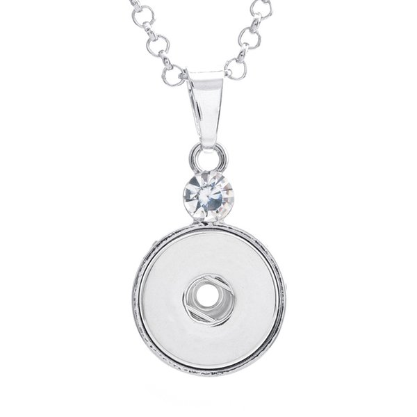 Noosa chunk Rhinestone DIY beauty snap Pendant Necklace fit 18mm snap button necklaces fashion snap jewelry