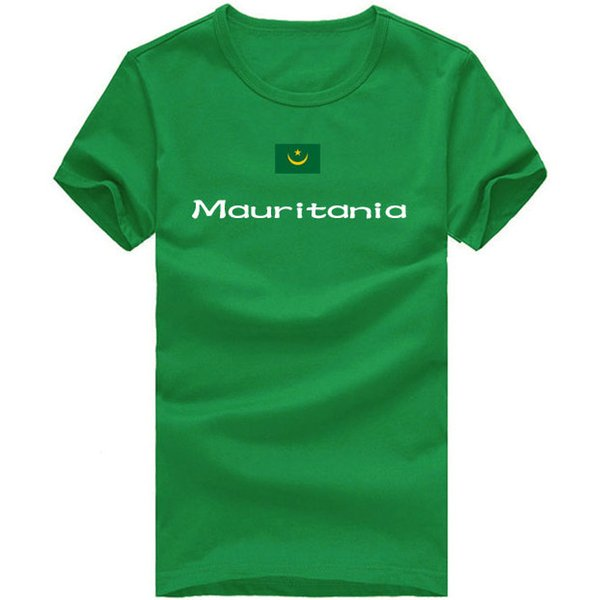 Mauritania T shirt Race sport short sleeve Cheer champion tees Nation flag clothing Unisex cotton Tshirt