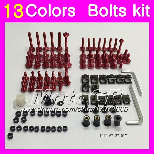 Fairing bolts full screw kit For YAMAHA YZFR1 07 08 15 YZF R1 YZF 1000 YZF1000 YZF-R1 2007 2008 2015 Body Nuts screws nut bolt kit 13Colors