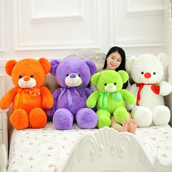 1pcs 75cm Beautiful Fruit Teddy Bear Plush Toy Bear Doll Throw Pillow Birthday Gift For Friends Or Children
