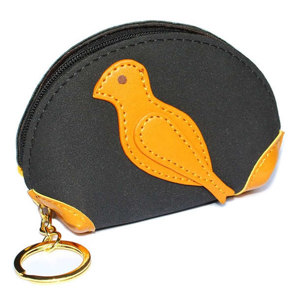 Women Mini Money Bags Lady Coin Purse Pocket Girls Wallets Card Coin Bag Short Woman Wallet Moneybags Bird Keychain Purses Pouch