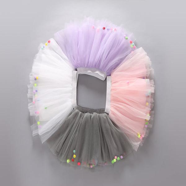 Baby Girls TUTU Skirts Summer Colorful Ball Net Yarn Pettiskirt for Kids Children Short Party Dance Skirt LC459