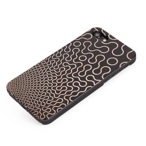U&I ®For Apple IPhone PC Hard Back Phone Case Laser Engraved Pattern Wooden Phone Case for selling