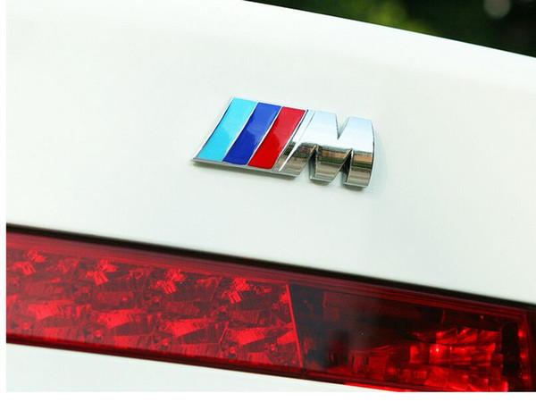 New Motorsport Metal Logo Car Sticker Rear Trunk Emblem Grill Badge for BMW E46 E30 E34 E36 E39 E53 E60 E90 F10 F30 M3 M5 M6